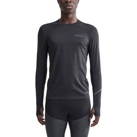 Craft SubZ Longsleeve Wollen T-shirt Heren, black melange/monument